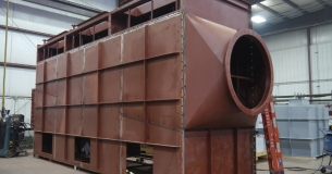 Crude gas clean gas plenum