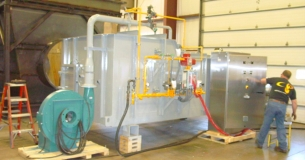 4000 CFM Oxidizer with internal heat Exchanger